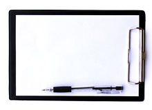 Clip board and papers Royalty Free Stock Image