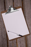 Clip board with pen Royalty Free Stock Image
