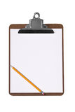 Clip board with pencil Stock Photos