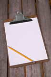 Clip board with pencil Royalty Free Stock Photos