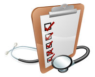Clip Board and Stethoscope Royalty Free Stock Photo