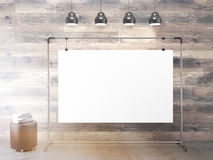 Clip board under lamps Stock Images