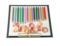 Clip Board for writing with crayons Royalty Free Stock Images