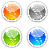 Clip buttons. Royalty Free Stock Image