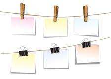 Clip cartoon. Clip wood note cartoon background Royalty Free Stock Photography