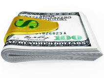 Clip for cash Royalty Free Stock Photo