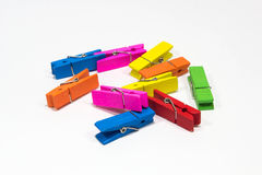 Clip colorful. / Made of wood exocrine be plated Stock Images
