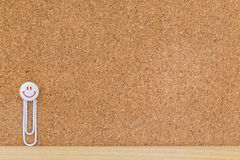 Clip on cork board Royalty Free Stock Photography