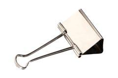 Clip d'acciaio isolata Fotografie Stock Libere da Diritti