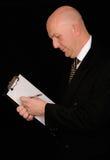 clip d'homme d'affaires de panneau photo libre de droits