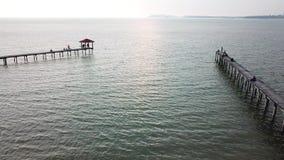 Clip de la opinión aérea del mar Visión superior, fondo asombroso de la naturaleza almacen de metraje de vídeo