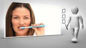Clip de los dientes de cepillado de la mujer metrajes