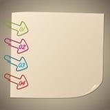 Clip de papel de la forma de la flecha infographic Imágenes de archivo libres de regalías