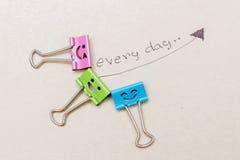 clip de papel feliz Imagen de archivo libre de regalías
