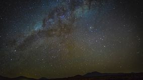clip de película de cine de 4k Timelapse del lapso de tiempo de la vía láctea de la galaxia del universo, azul de la naturaleza,  metrajes