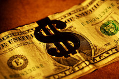 Clip dei soldi Fotografie Stock Libere da Diritti