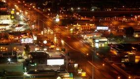 Clip 4 del tráfico de Las Vegas desde arriba - lapso de tiempo - almacen de video