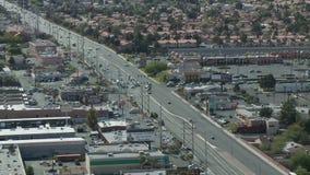 Clip 7 del tráfico de Las Vegas desde arriba - lapso de tiempo - almacen de video