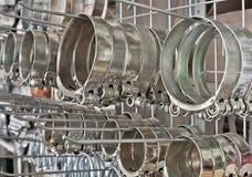 Clip del tubo flessibile del metallo. Fotografia Stock Libera da Diritti
