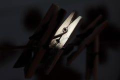 Clip della lavanderia Fotografia Stock Libera da Diritti