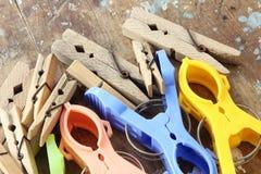 Clip della lavanderia Fotografie Stock Libere da Diritti