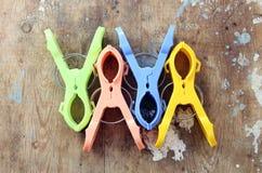 Clip della lavanderia Fotografia Stock