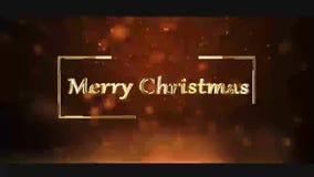 Clip der frohen Weihnachten für den Wunsch Ihrer Familie stock video footage