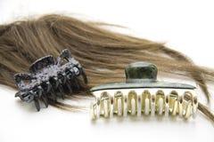 Clip di capelli con la parrucca Fotografie Stock