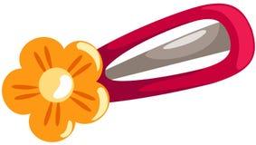 Clip di capelli del fiore Fotografie Stock