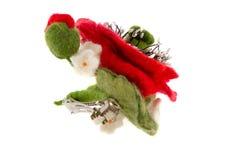Clip di capelli del papavero fatta di lana Immagine Stock