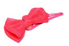 Clip di capelli rosa delle ragazze isolata Fotografie Stock Libere da Diritti
