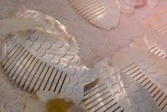 Clip di capelli sotto forma di pesce fotografie stock