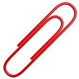 clip di carta 3D (rossa) Fotografia Stock