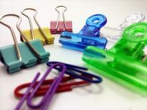 Clip di carta colorate Fotografia Stock