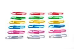 Clip di carta colorate Fotografie Stock