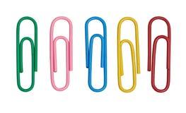 Clip di carta di colore Fotografia Stock Libera da Diritti