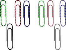 Clip di carta di colore Fotografia Stock