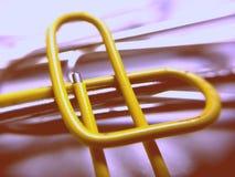 Clip di carta a forma di del cuore Fotografie Stock