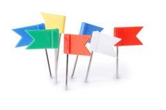 Clip di carta Multi-colored su bianco Fotografia Stock Libera da Diritti
