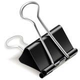 Clip di carta nera del raccoglitore Immagini Stock