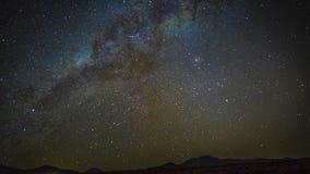 clip di film di 4k Timelapse del lasso di tempo della Via Lattea della galassia dell'universo, blu della natura, Via Lattea scura stock footage
