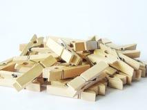 Clip di legno Fotografie Stock Libere da Diritti
