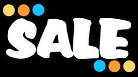 Clip di pubblicità di vendita di Black Friday Il nero animato dell'iscrizione, venerdì, vendita Offerta di sconto royalty illustrazione gratis