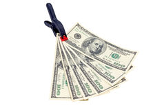 Clip with dollars Royalty Free Stock Photography