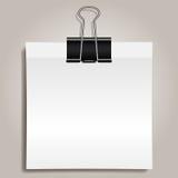Clip e carta del raccoglitore illustrazione di stock