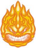 Clip enojado Art Cartoon del vector de la bola de fuego de la cara Fotos de archivo