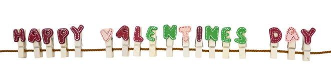 Clip felice di giorno dei biglietti di S. Valentino Fotografie Stock Libere da Diritti