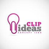 Clip Ideas Vector Concept Symbol Icon or Logo Royalty Free Stock Images