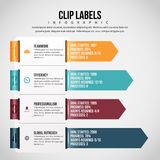 Clip Label Infographic Royalty Free Stock Photo