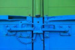 Clip-locks on a trailer Stock Image